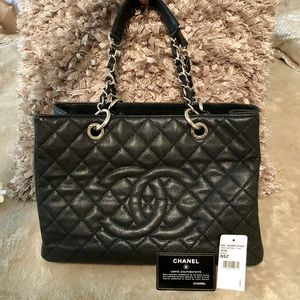 Chanel Black Quilted Large Shopping Tote
